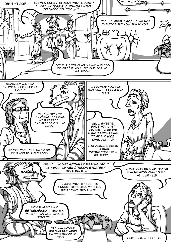 Halen's sentence in panel 2 is a good description of him in general.